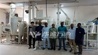 TSFZ-15T Integrated Maize Grits Milling Machine Export to Nigeria